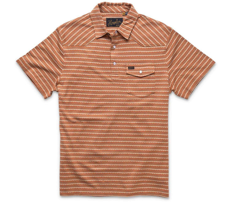 Zuma Ranchero Jacquard Polo - Copperpot Tops Howler Bros Copperpot S