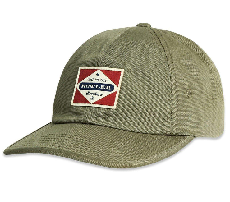 Posse Badge Strapback Hat Headwear Howler Bros Olive Green