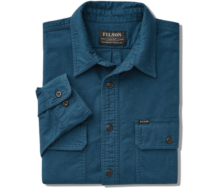 Field Flannel - Legion Blue Tops Filson