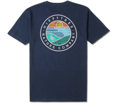 Waveform Eco Tee Tops HippyTree Navy S