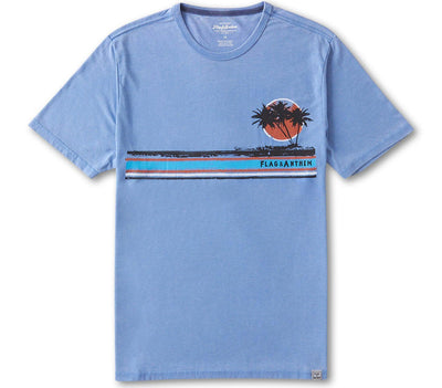 Hilton Head Burnout Tee - Light Blue Tops Flag & Anthem Light Blue S