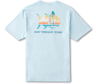 Catamaran Sunset T-Shirt - Wake Blue Tops Southern Tide Wake Blue S