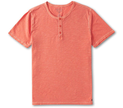 Vintage Slub Henley - Sunrise Tops The Normal Brand Sunrise S