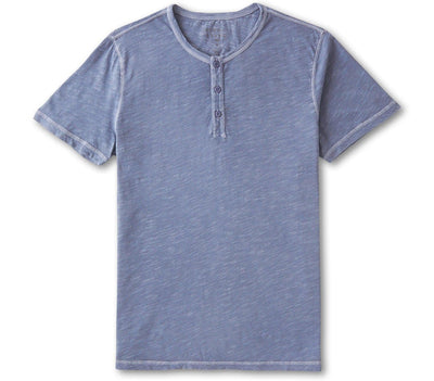 Vintage Slub Henley - Light Indigo Tops The Normal Brand Light Indigo S