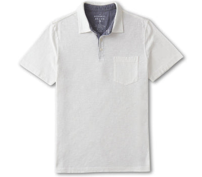 Vintage Slub Pocket Polo - White Tops The Normal Brand White S
