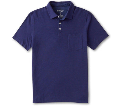 Vintage Slub Pocket Polo - Navy Tops The Normal Brand Navy S