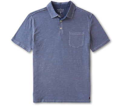 Vintage Slub Pocket Polo - Light Indigo Tops The Normal Brand Light Indigo S