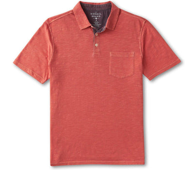 Vintage Slub Pocket Polo - Sunrise Tops The Normal Brand Sunrise S