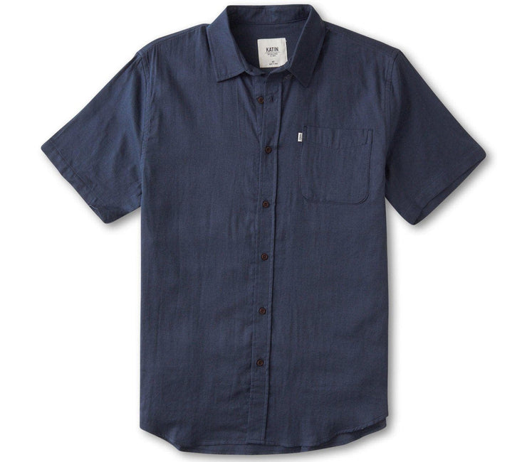 Saul Shirt - Baltic Blue Tops Katin Baltic Blue S
