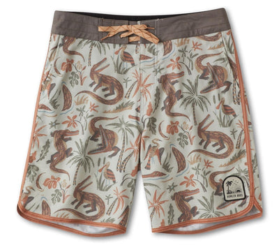 Stretch Bruja Boardshorts - Lazy Gators Bottoms Howler Bros Egret 30