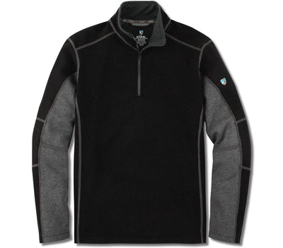 Revel 1/4 Zip Sweater - Black/Steel Outerwear KUHL Black/Steel S