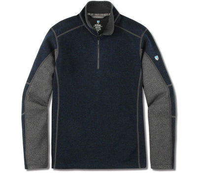 Revel 1/4 Zip Sweater - Mutiny Blue/Steel Outerwear KUHL Mutiny Blue/Steel S