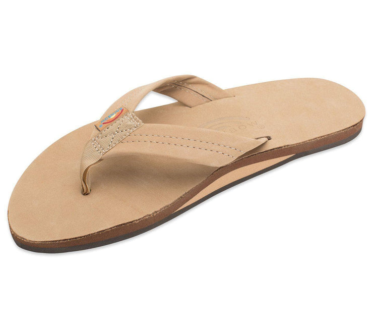 Leather Single Layer Sandals - Sierra Brown Footwear Rainbow