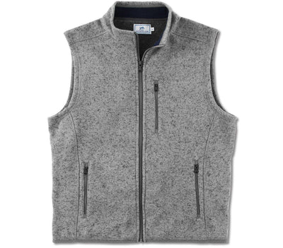 Samson Peak Sweater Fleece Vest - Steel Grey Outerwear Southern Tide Steel Grey M