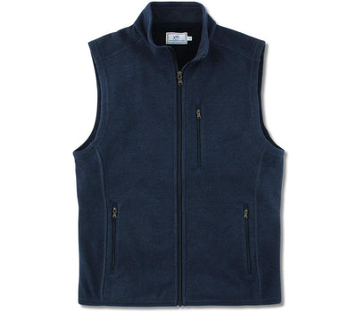 Samson Peak Sweater Fleece Vest - True Navy Outerwear Southern Tide True Navy M
