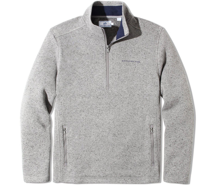 Sweater Fleece Quarter Zip - Grey Outerwear Southern Tide Grey M