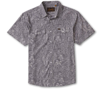H Bar B Snapshirt - Panhandle Handshake Tops Howler Bros Blue Chambray S