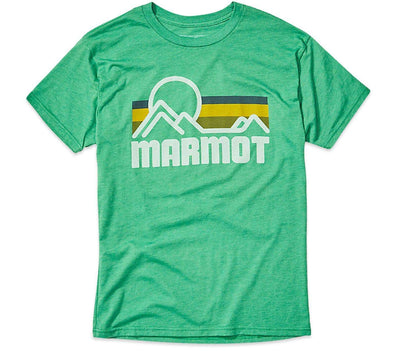 Coastal Short Sleeve T-Shirt - Green Heather Tops Marmot Green Heather S