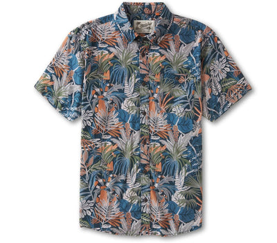 Mansfield Shirt - Glades Print Tops Howler Bros Midnight Blue S
