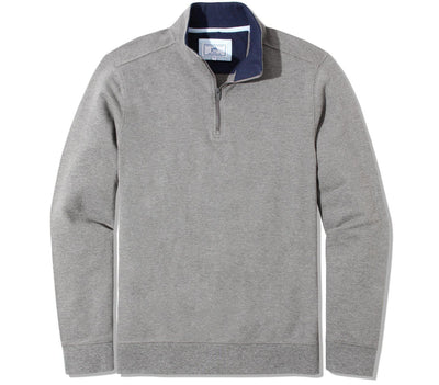Skipjack 1/4 Zip Pullover - Heather Gunmetal Outerwear Southern Tide Heather Gunmetal S