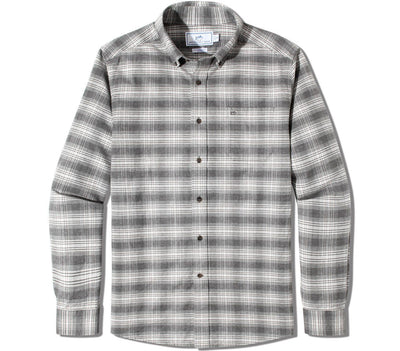 Double Brushed Oxford Sportshirt Tops Southern Tide Gravel Grey M