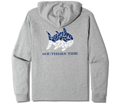 Wave Long Sleeve Tee Hoodie Tops Southern Tide Heather Grey S