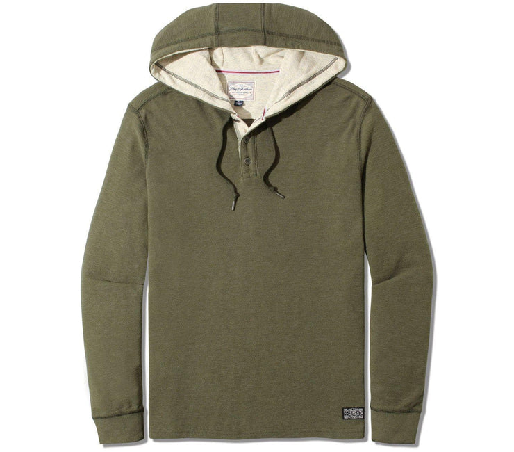 Mauldin Henley Hoodie - Army Green Tops Flag & Anthem Army Green S
