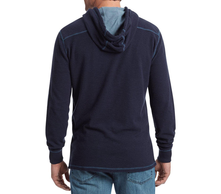 Mauldin Henley Hoodie - Dark Navy Tops Flag & Anthem