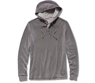 Mauldin Henley Hoodie - Gray Heather Tops Flag & Anthem Gray Heather S