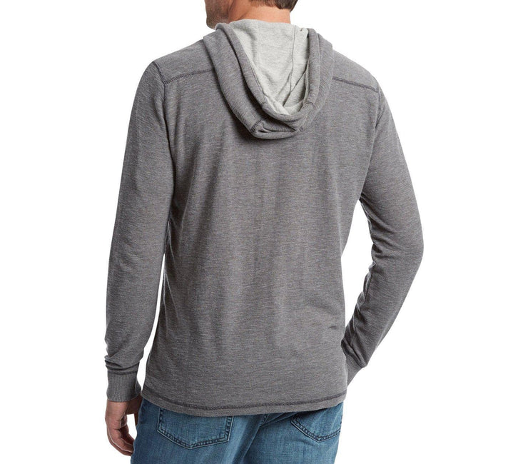 Mauldin Henley Hoodie - Gray Heather Tops Flag & Anthem