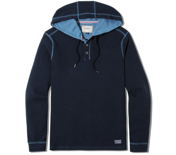 Mauldin Henley Hoodie - Dark Navy Tops Flag & Anthem Dark Navy S