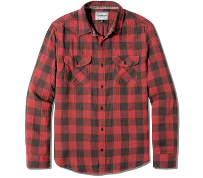 Belhaven Flannel - Red Black Plaid Tops Flag & Anthem Red Black Plaid S