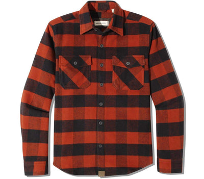 Briggs Flannel Tops Dakota Grizzly Copper M