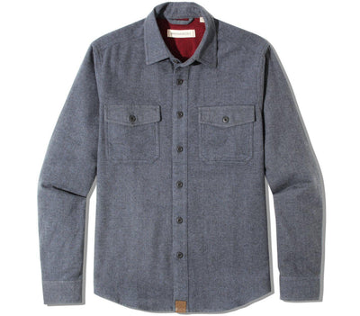 Major Chamois Flannel - Cadet Blue Tops Dakota Grizzly Cadet Blue M