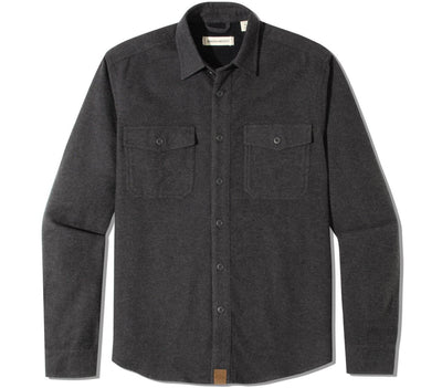 Major Chamois Flannel - Steel Grey Tops Dakota Grizzly Steel M