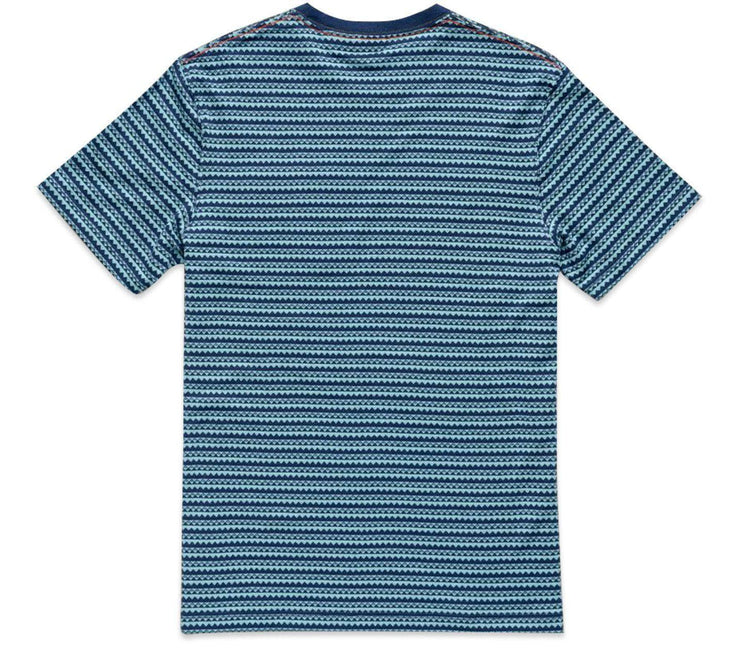 Zuma Jacquard Pocket T-Shirt - Station Blue Tops Howler Bros