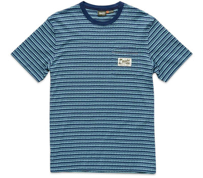 Zuma Jacquard Pocket T-Shirt - Station Blue Tops Howler Bros Station Blue S