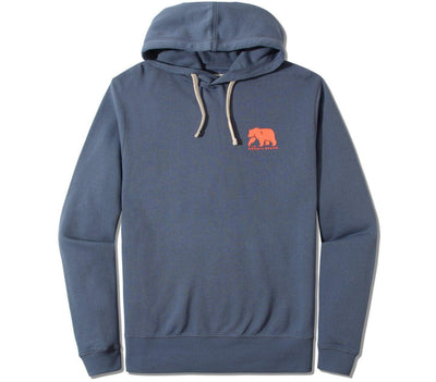 Clay Fleece Hoodie Outerwear The Normal Brand Mineral Blue S
