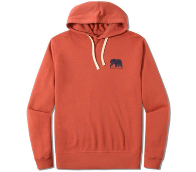 Clay Fleece Hoodie Outerwear The Normal Brand Rust S