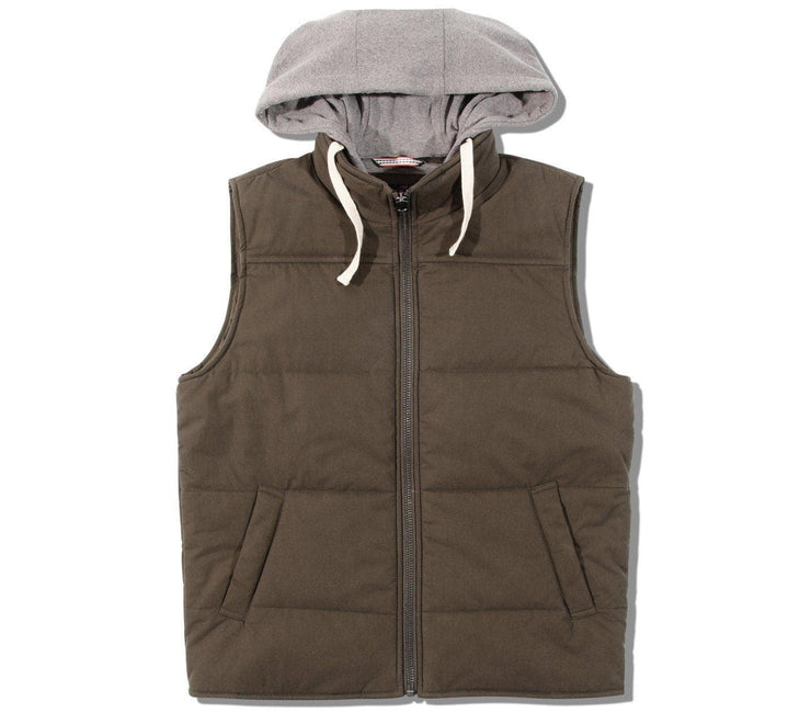 Dano Hooded Athletic Vest Outerwear The Normal Brand Brown M