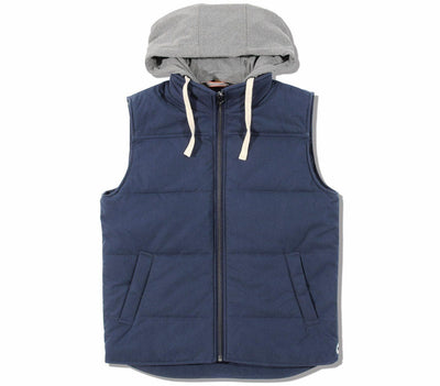 Dano Hooded Athletic Vest Outerwear The Normal Brand Navy S