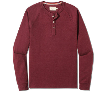 Puremeso Long Sleeve Henley Tops The Normal Brand Wine S