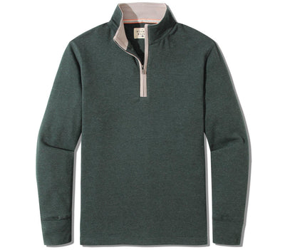Puremeso Quarter Zip Pullover Outerwear The Normal Brand Green S
