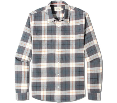 Conrad Flannel Tops The Normal Brand Grey Plaid S