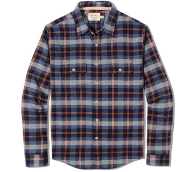 Conrad Flannel Tops The Normal Brand Navy M