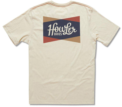 Classic Shapes Pocket T-Shirt - Sand Tops Howler Bros Sand S