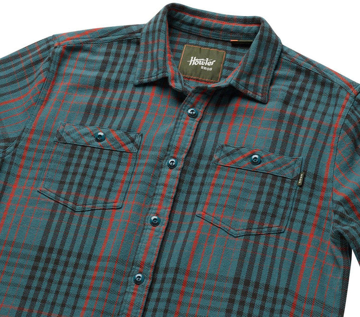 Rodanthe Flannel - Mirage Blue Tops Howler Bros