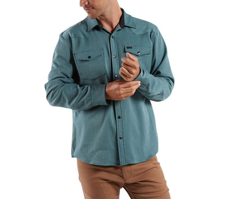 Stockman Snapshirt - Teal Tops Howler Bros