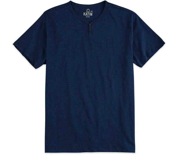Folk Henley - Navy Tops Katin Navy M
