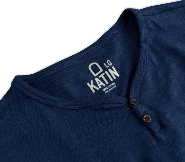 Folk Henley - Navy Tops Katin